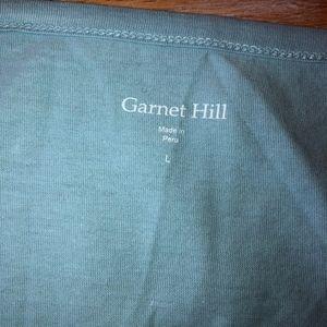 Garnet Hill Tops - GARNET HILL blue ruffle/looped pattern top/NEW